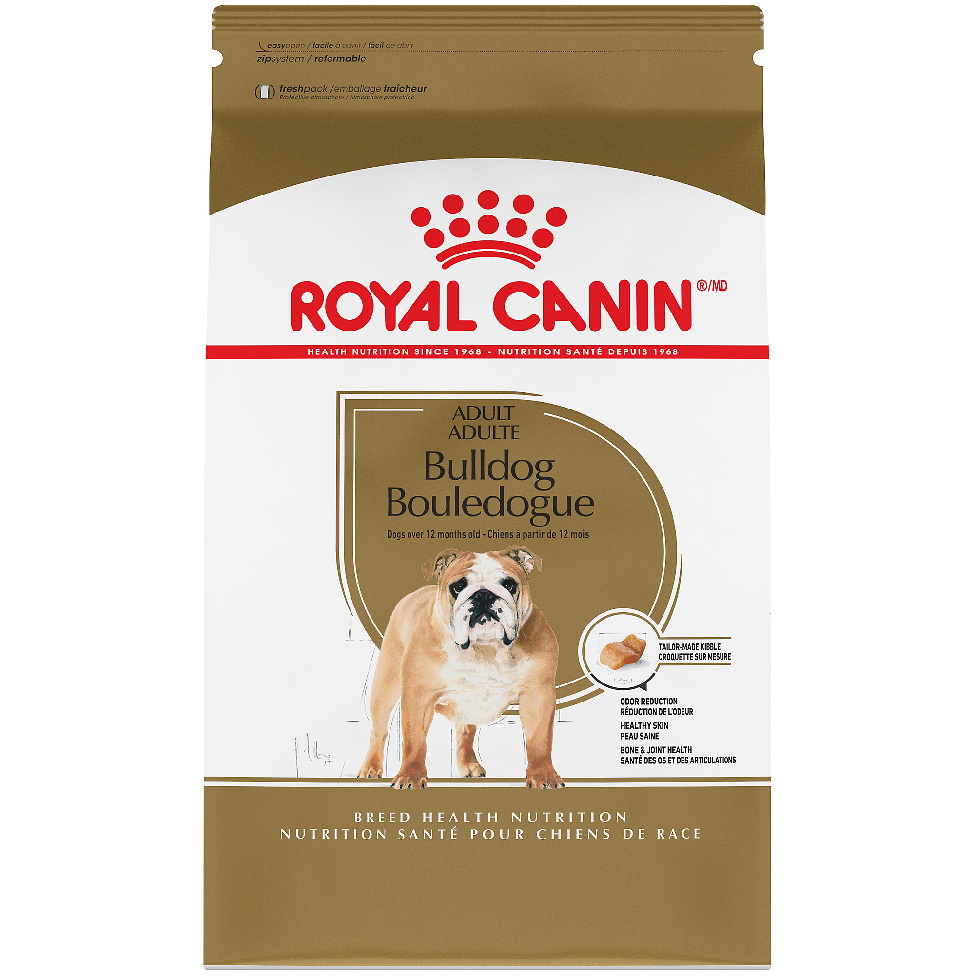 Royal Canin Breed Health Nutrition Bulldog Adult Dry Dog Food Image