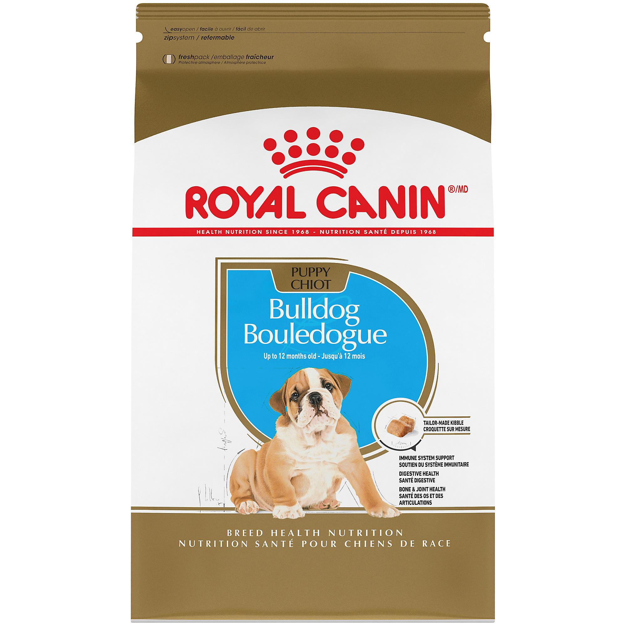 Royal Canin Breed Health Nutrition Bulldog Puppy Dry Dog Food, 6-lb