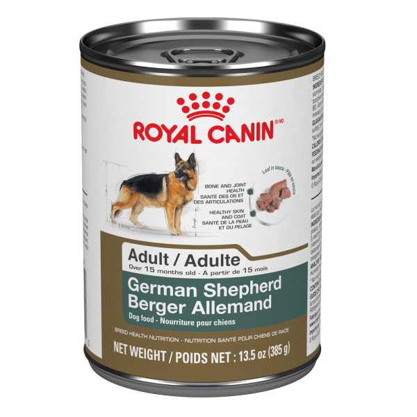 Royal Canin BHN German Shepherd Adult Loaf in Gravy Canned Wet Dog Food, 385-gm