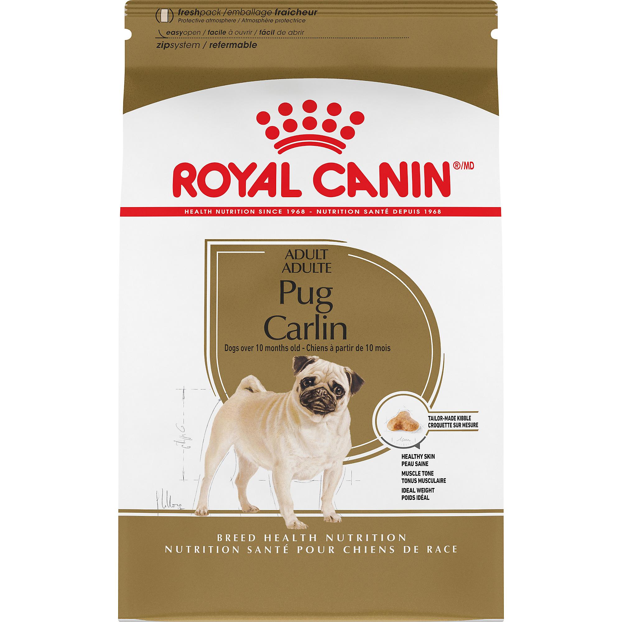 Royal Canin Breed Health Nutrition Pug Adult Dry Dog Food, 10-lb