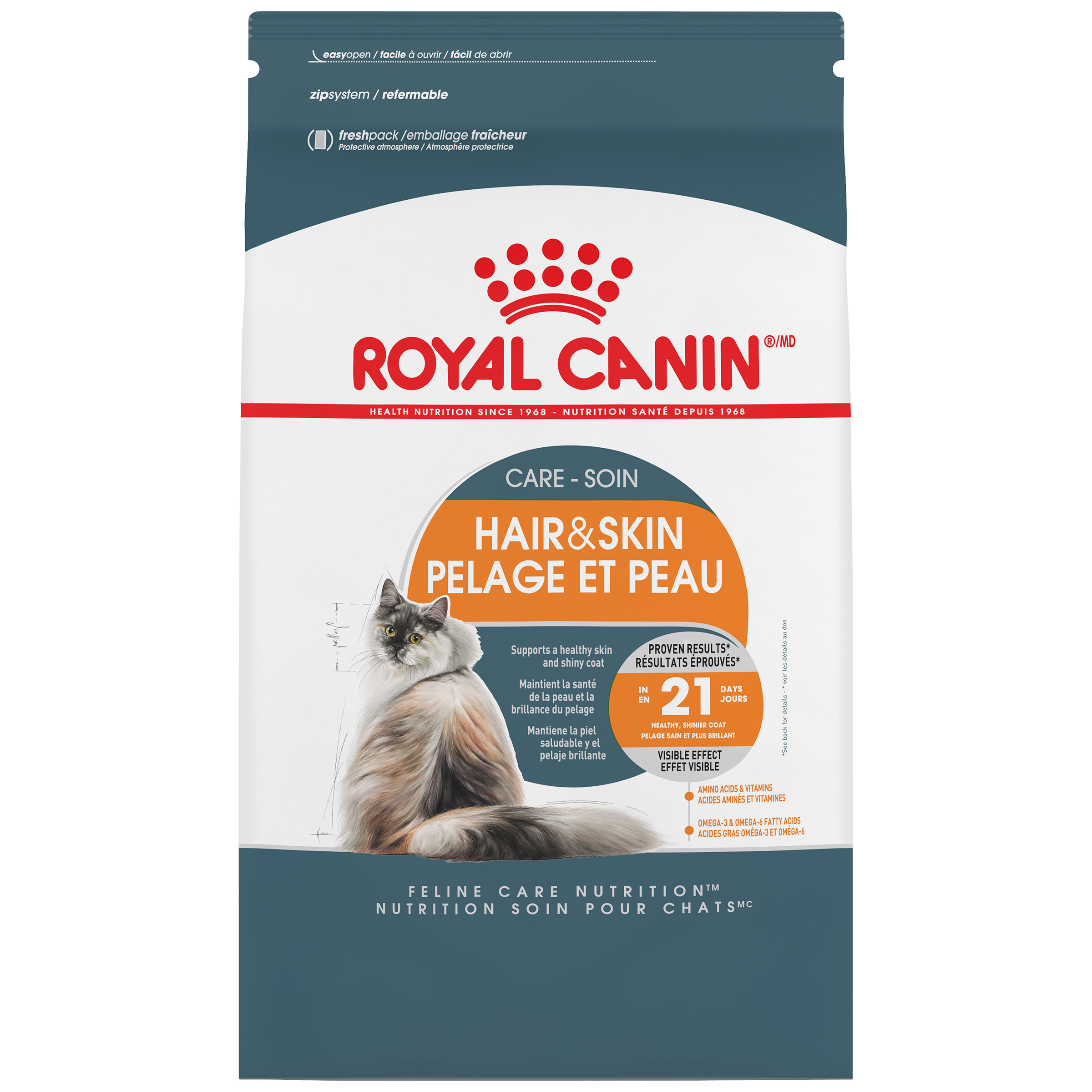Royal Canin Feline Care Nutrition Hair & Skin Care Adult Dry Cat Food Image