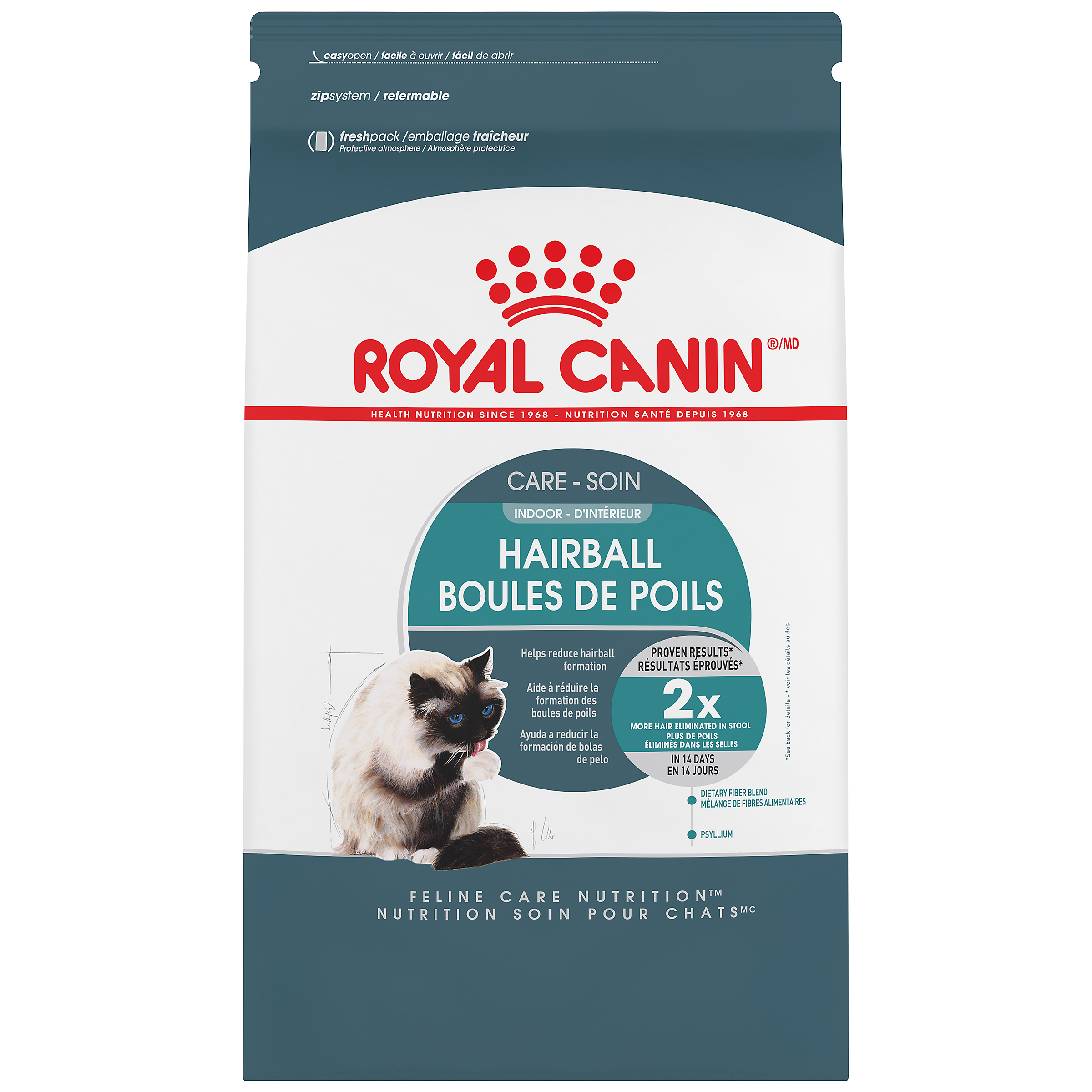 Royal Canin Feline Care Nutrition Indoor Hairball Care Adult Dry Cat Food Image