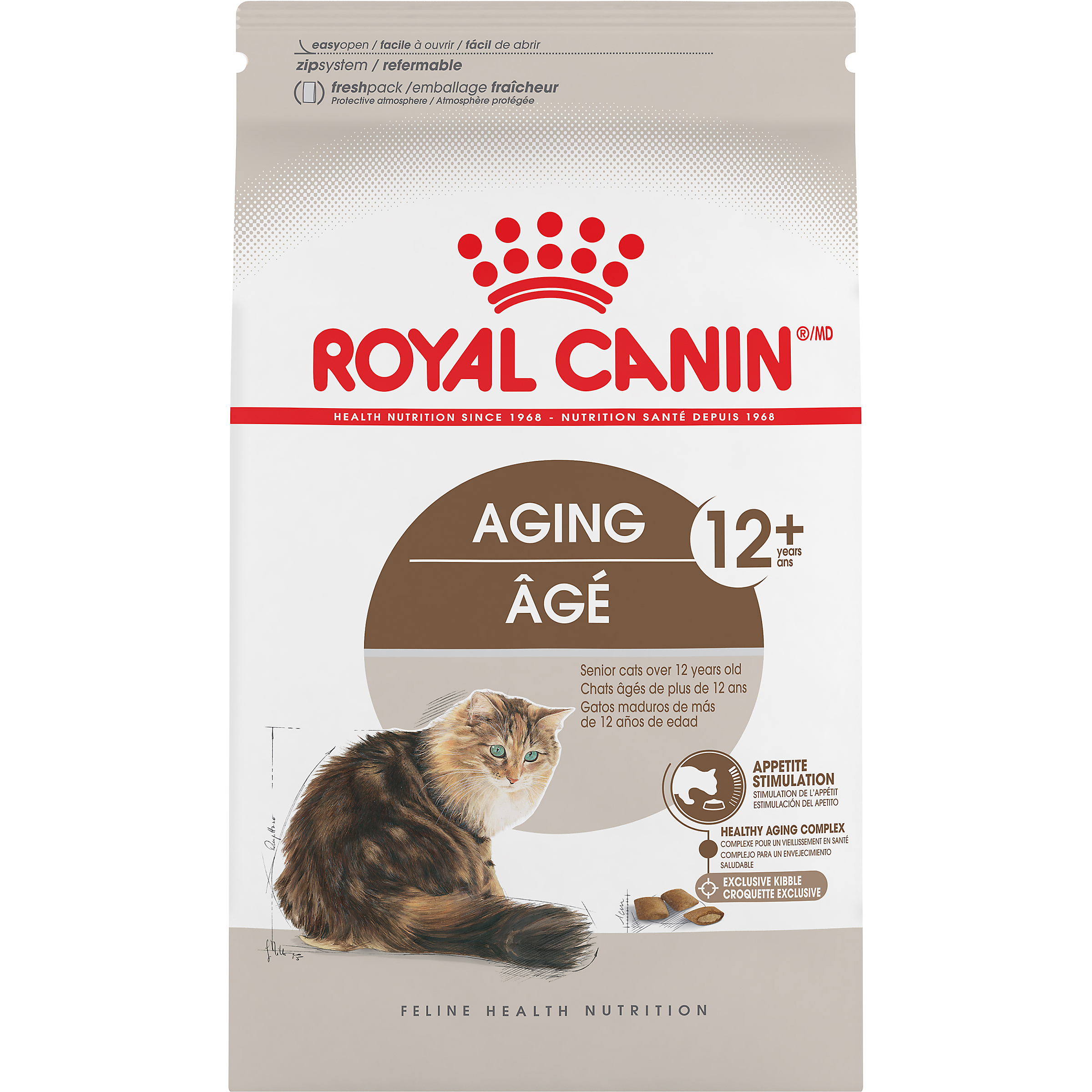 Royal Canin FHN Feline Aging Adult Dry Cat Food Image