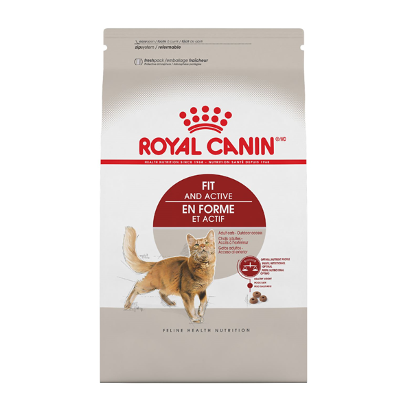 Royal Canin FHN Fit & Active Adult Dry Cat Food, 7-lb