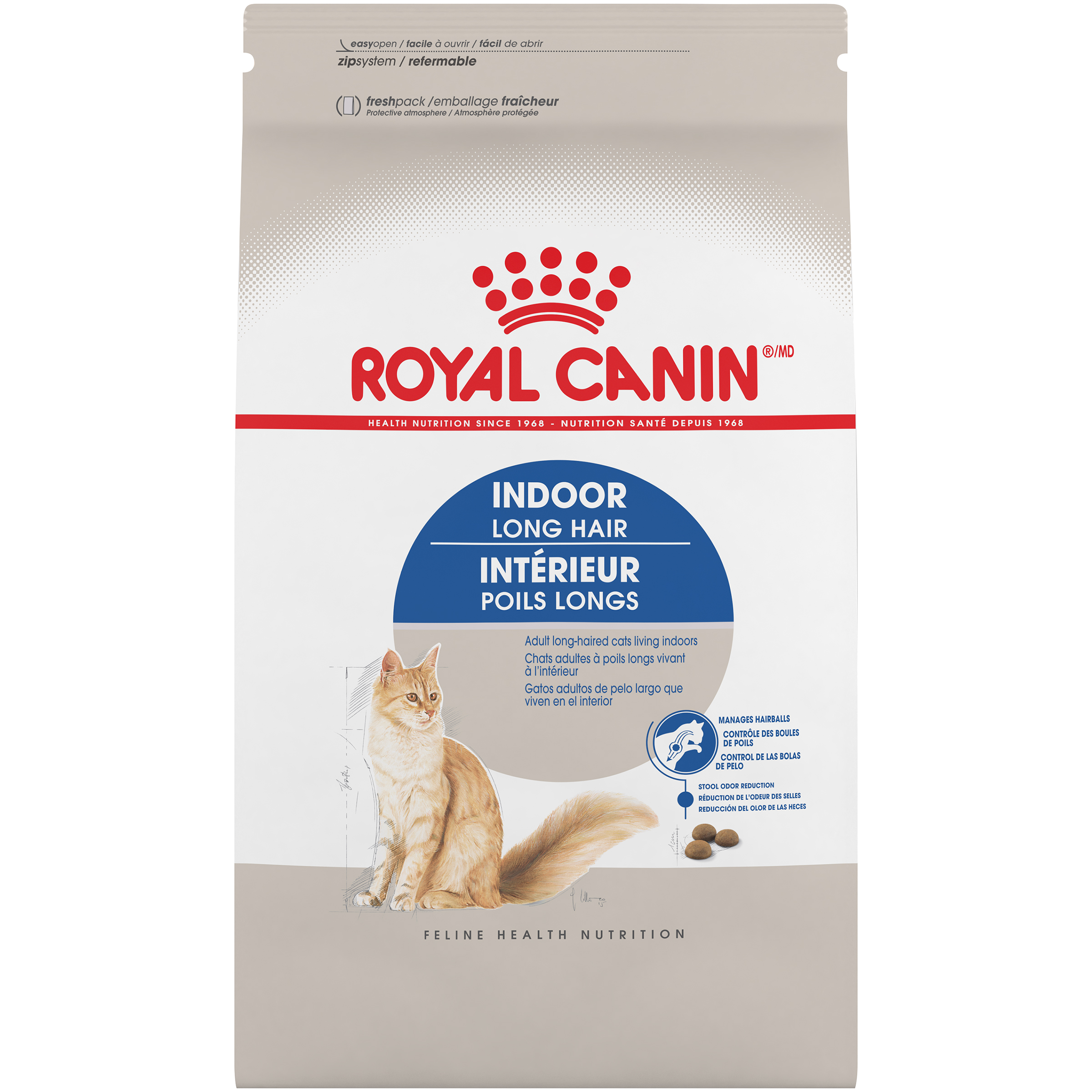 Royal Canin FHN Indoor Long Hair Adult Dry Cat Food Image