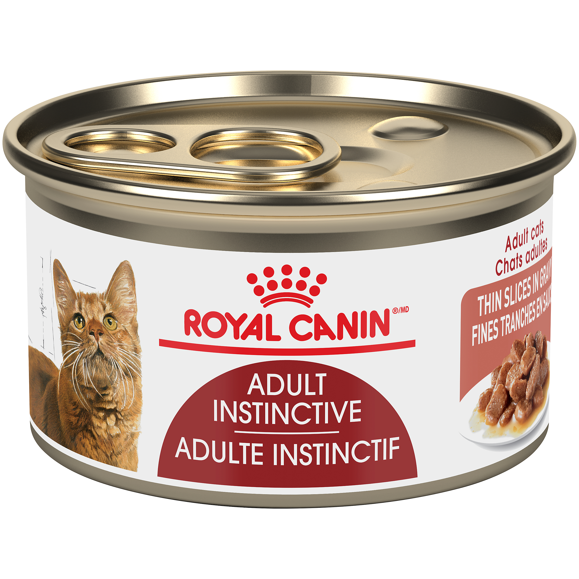 Royal Canin FHN Instinctive Adult Thin Slices in Gravy Wet Cat Food, 85-gm