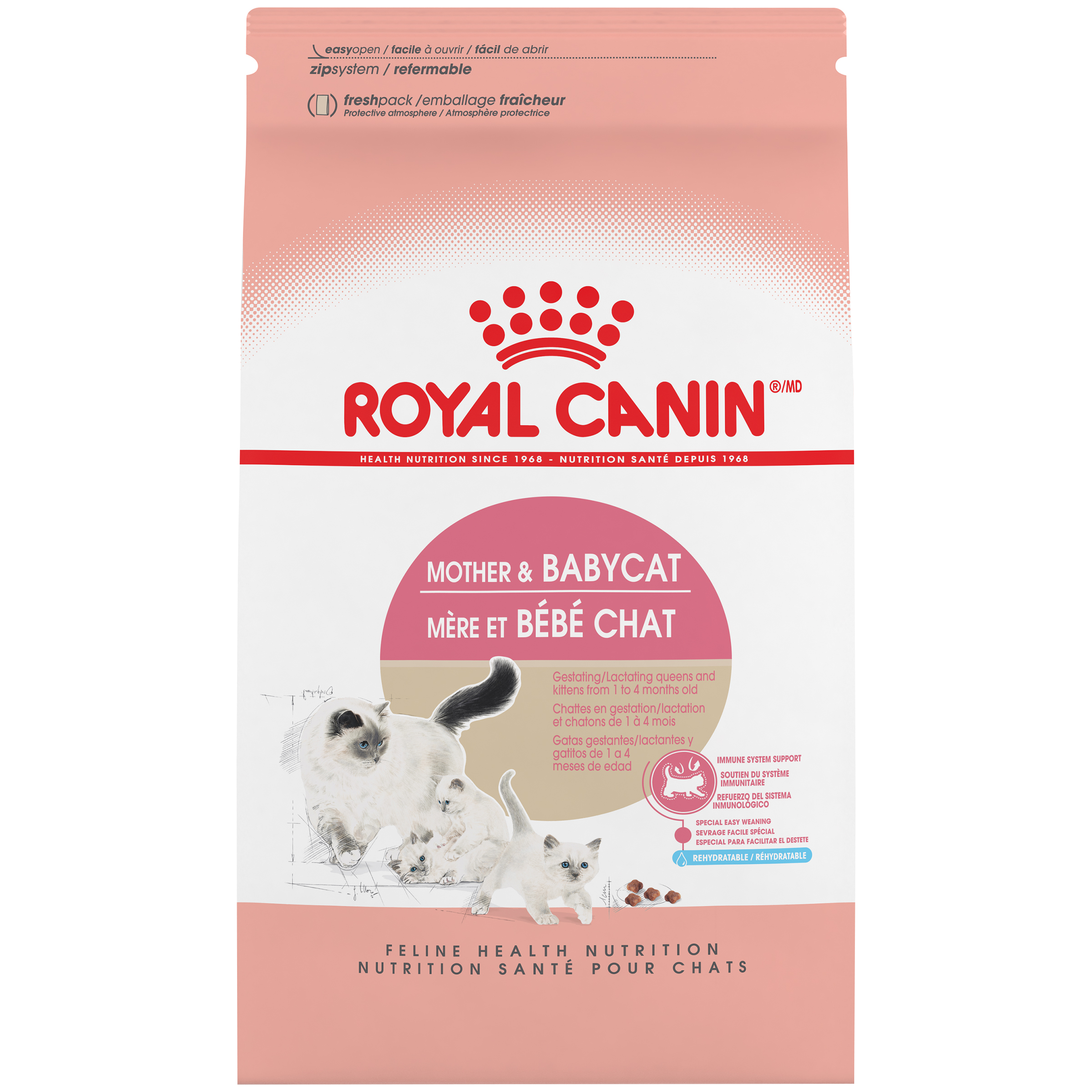 Royal Canin FHN Mother & Baby Dry Cat Food, 3.5-lb