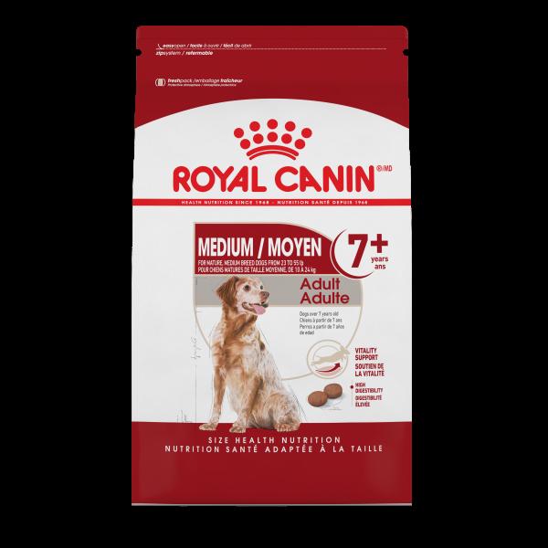 Royal Canin SHN Medium Adult 7+ Dry Dog Food, 30-lb