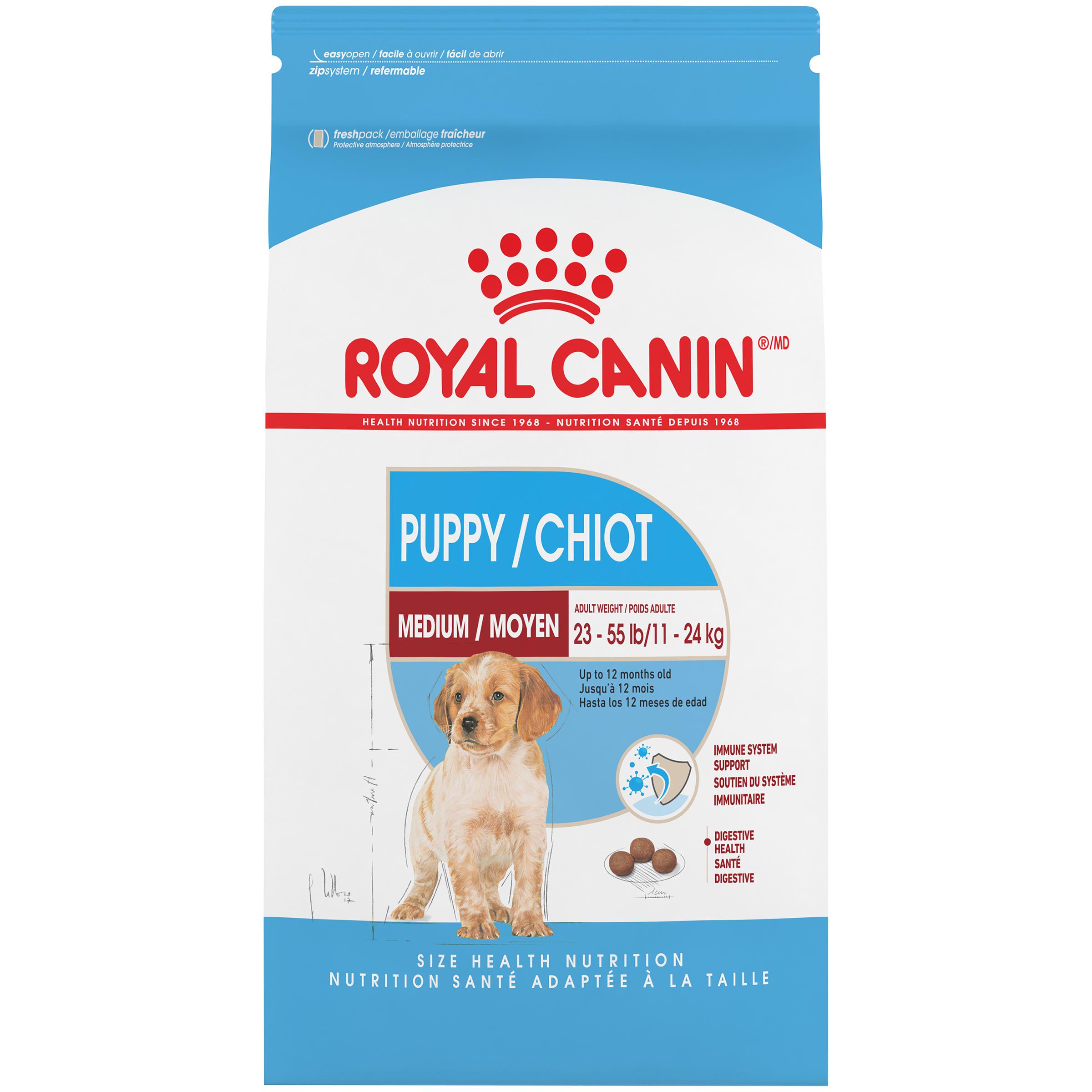 Royal Canin SHN Medium Puppy Dry Dog Food, 30-lb