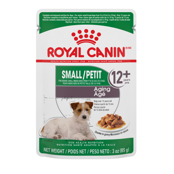 Royal Canin SHN Small Aging Chunks in Gravy Pouch Wet Dog Food, 85-gm