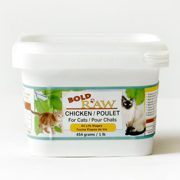 Bold Raw Chicken Tub Cat Food, 1-lb