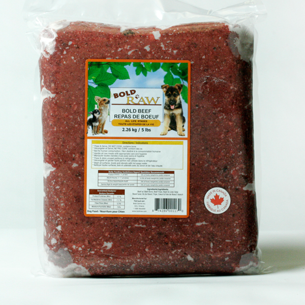 Bold Raw Beef Dog Food Image