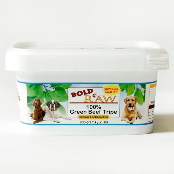 Bold Raw Green Beef Tripe Tub Dog Food, 2-lb