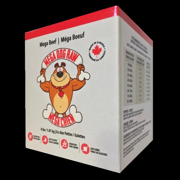 Mega Dog by Bold Raw Beef Dog Food, 4-lb