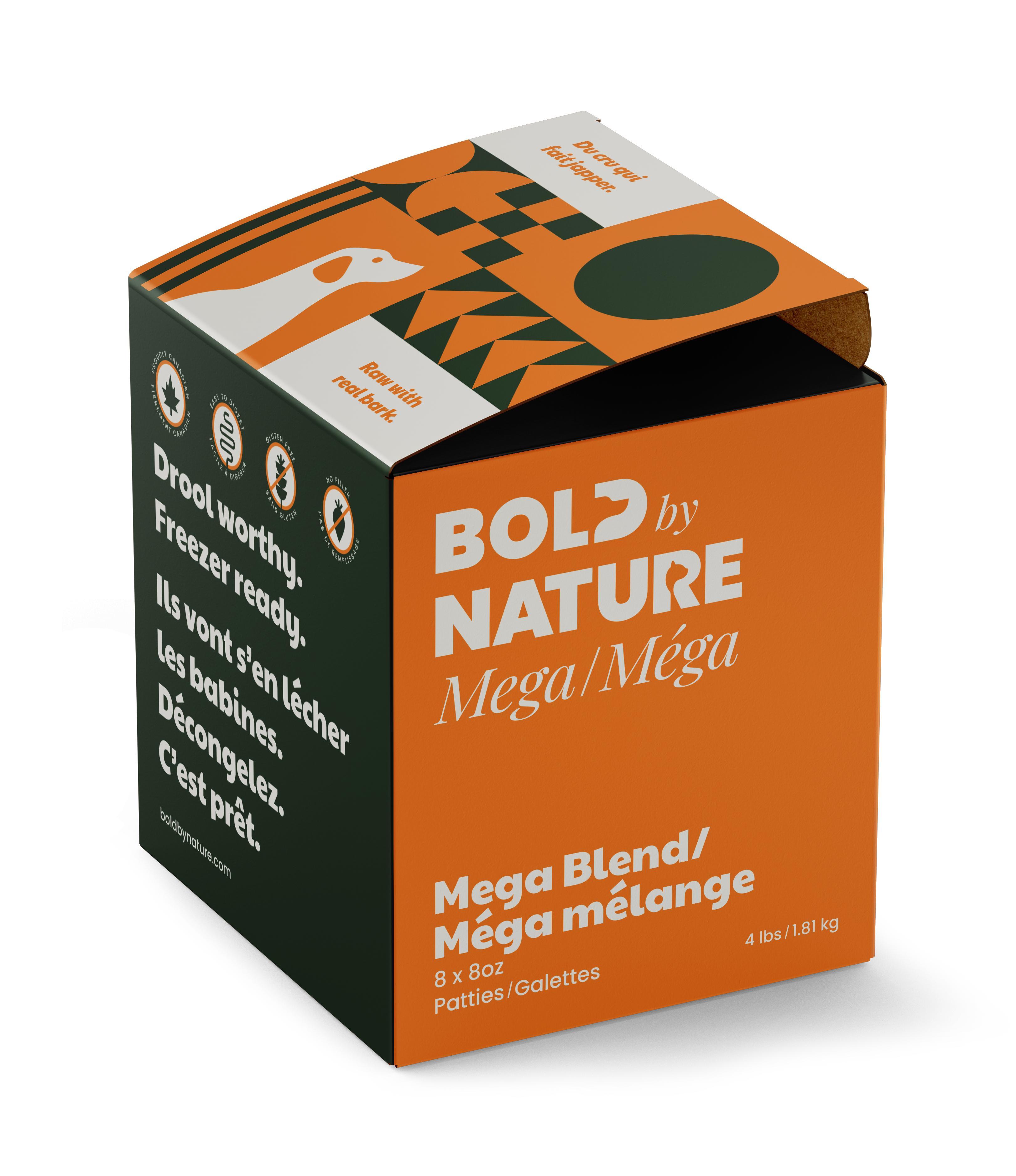 Bold by Nature Dog Mega Blend Patties Dog Food, 4-lb