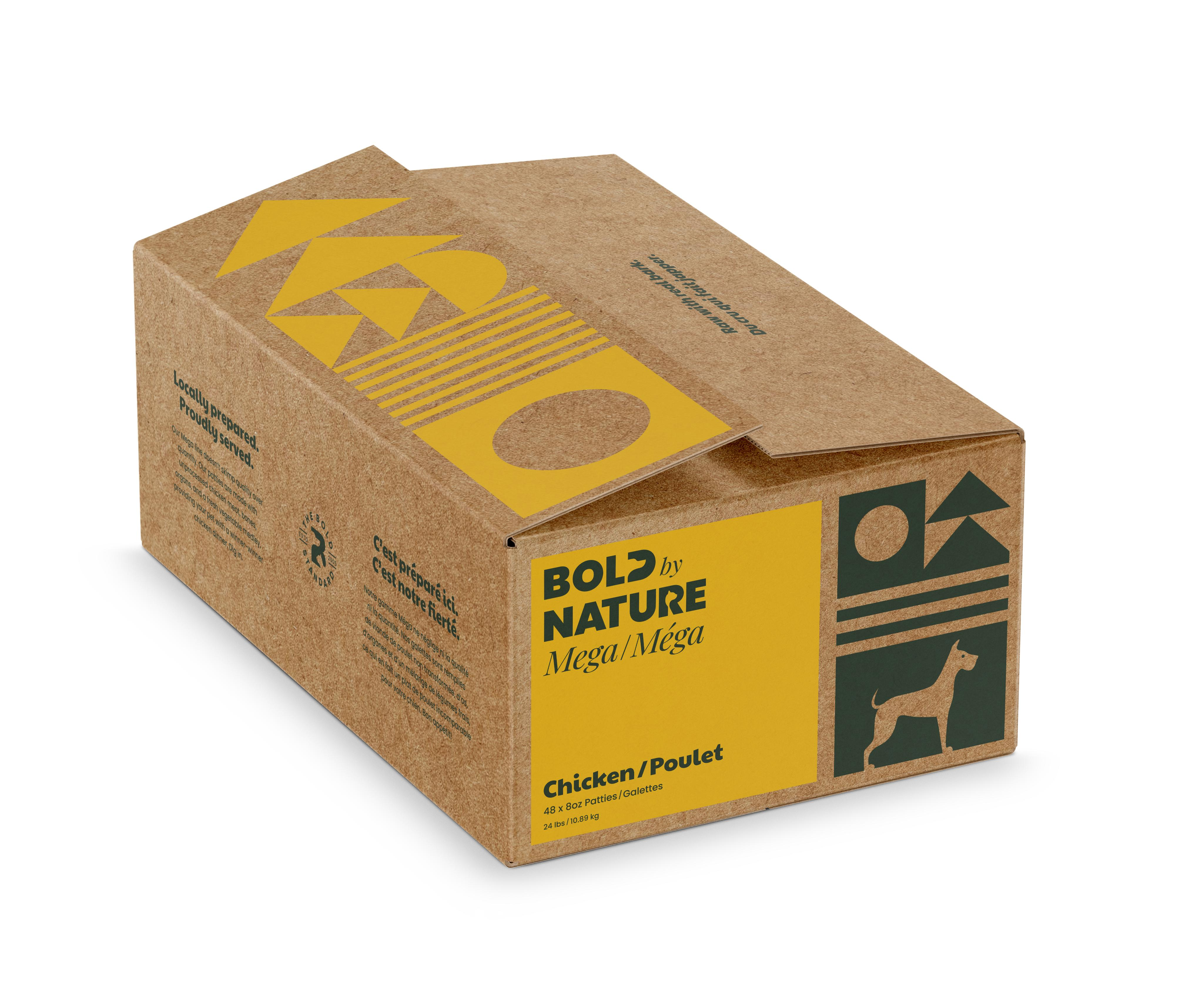Bold by Nature Dog Mega Chicken Patties, 24-lb