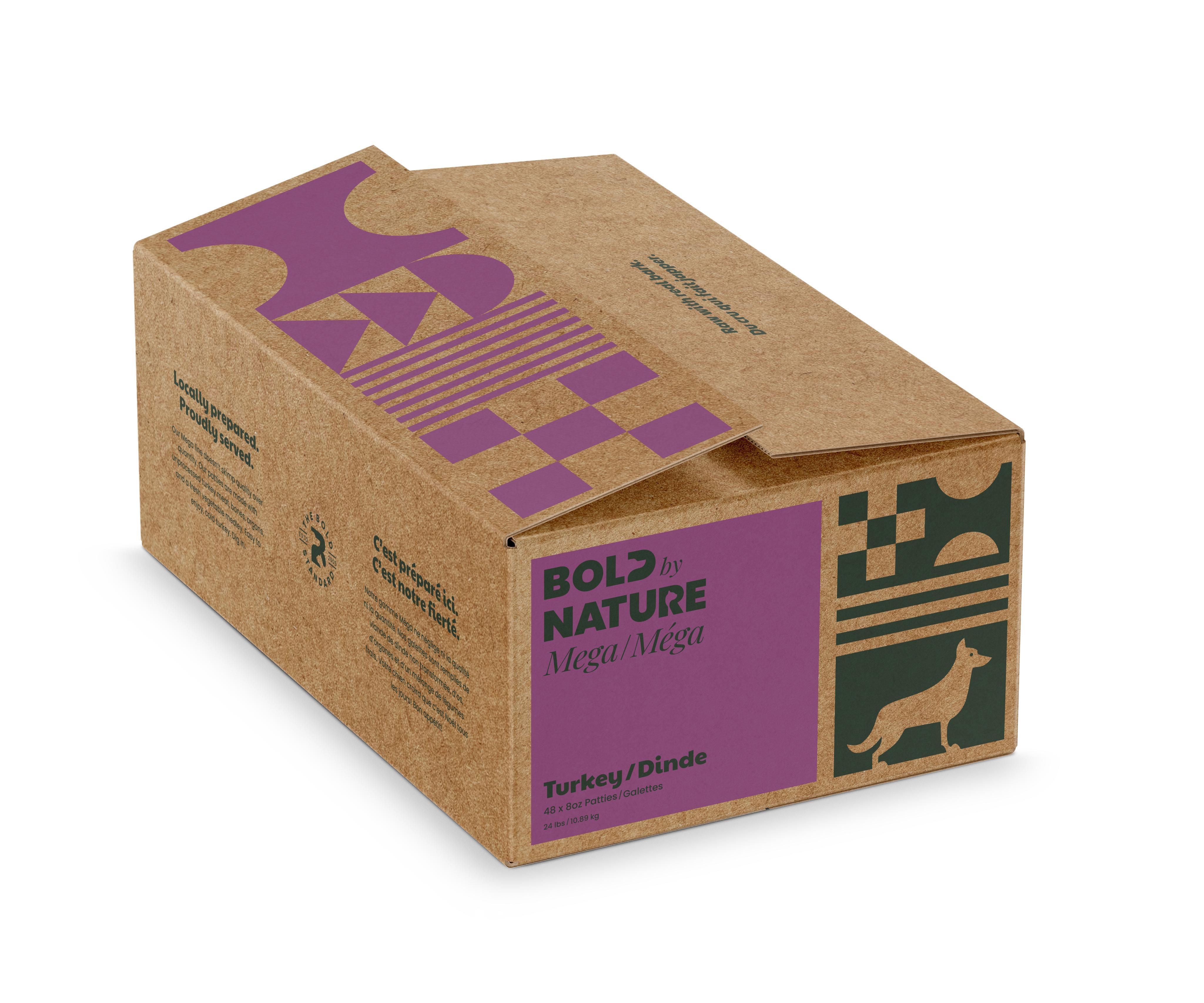 Bold by Nature Dog Mega Turkey Patties Dog Food, 24-lb