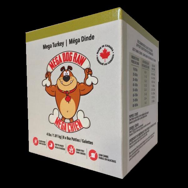 Mega Dog by Bold Raw Turkey Dog Food, 4-lb