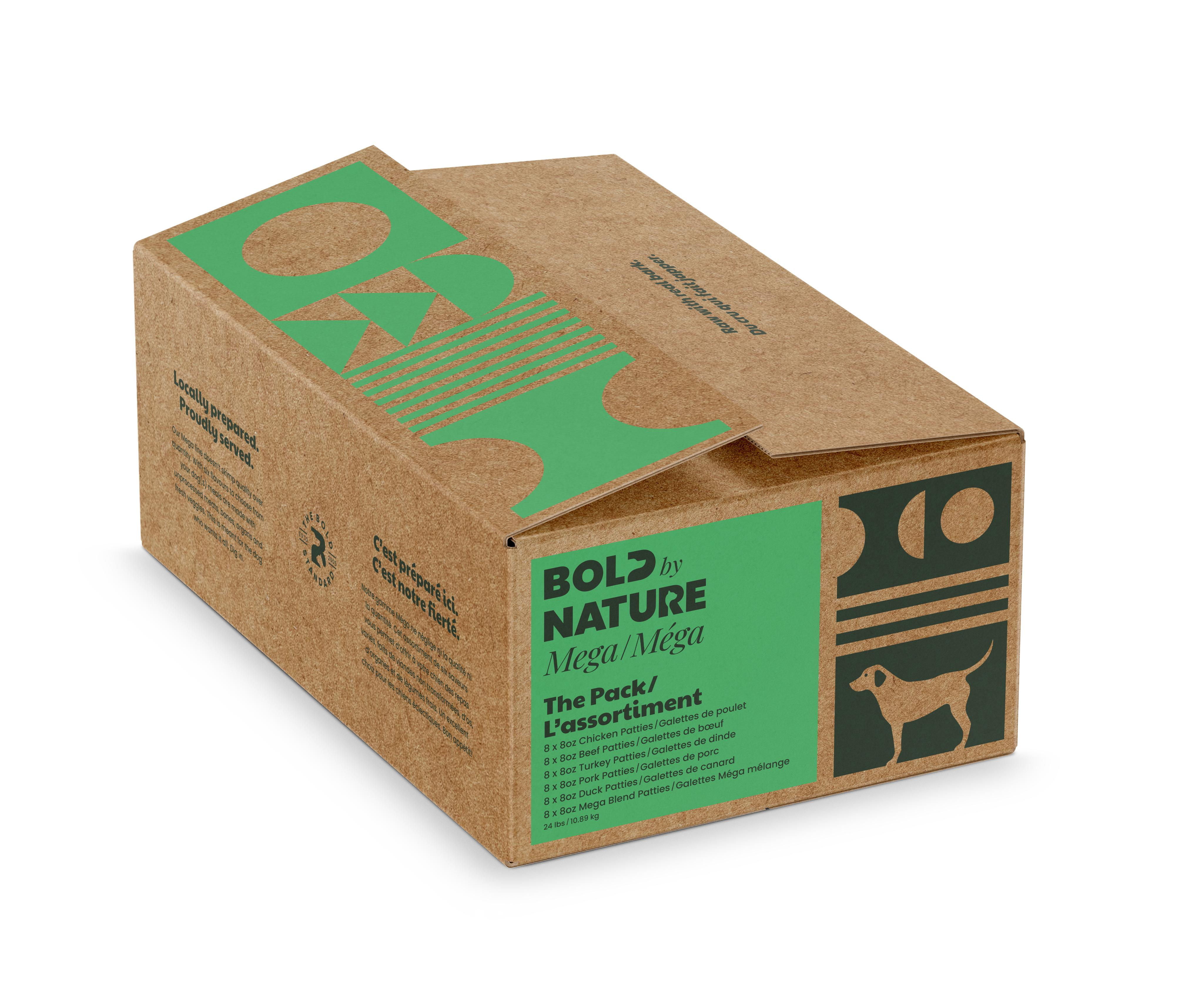 Bold by Nature Dog Mega Variety Pack Chicken Free Patties, 24-lb