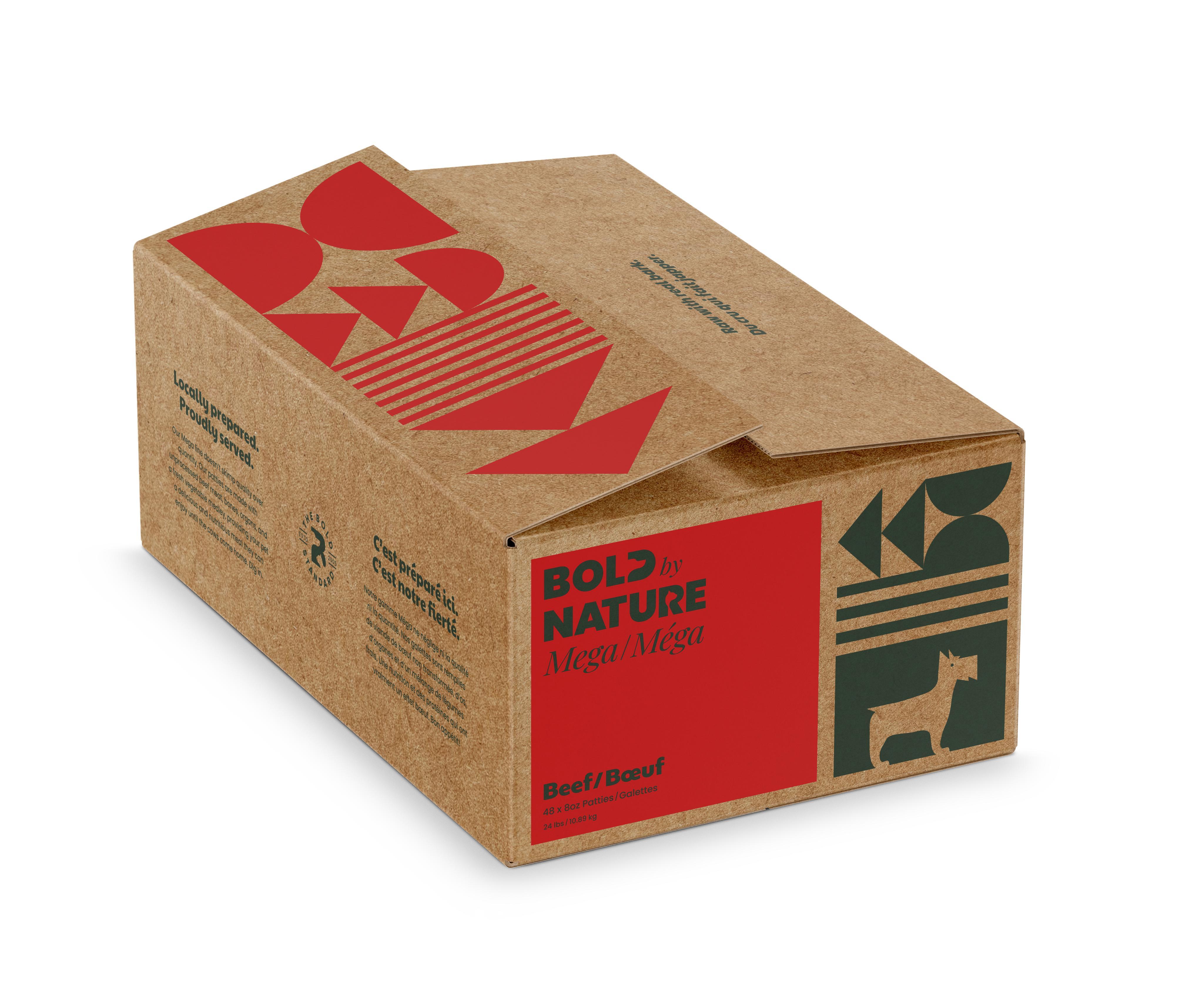 Bold by Nature Dog Mega Beef Patties Dog Food, 24-lb
