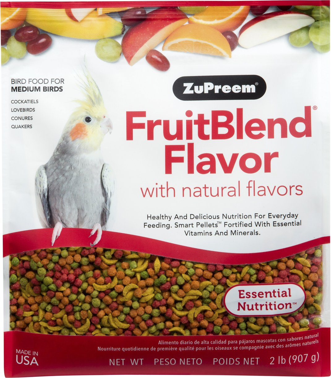ZuPreem FruitBlend with Natural Fruit Flavors Medium Bird Food Image