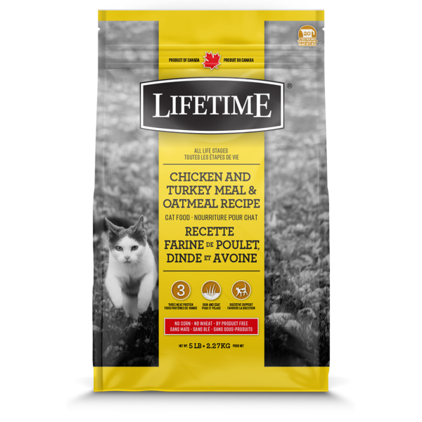 Lifetime ALS Chicken, Turkey & Oatmeal Recipe Dry Cat Food, 2.27-kg