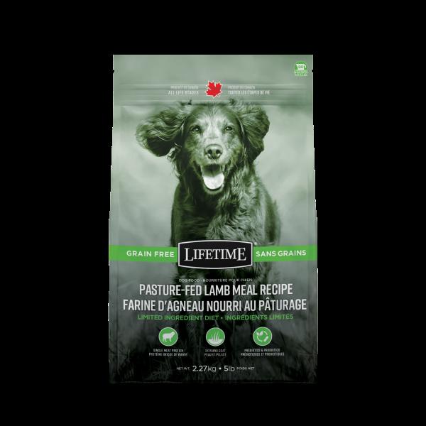 Lifetime LID Pasture-Fed Lamb Recipe Dry Dog Food, 2.27-kg