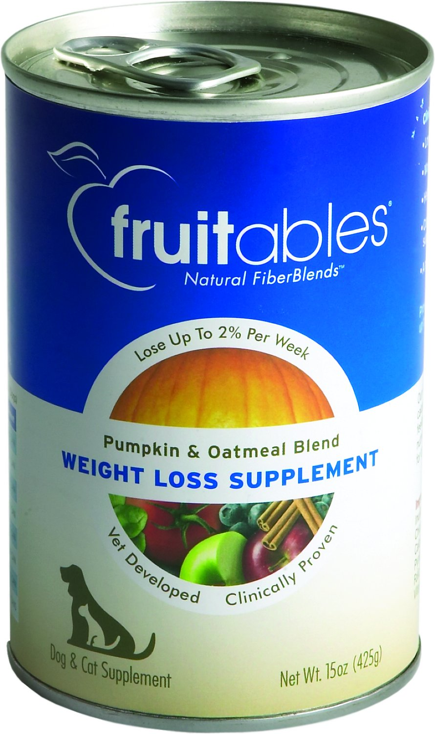 Fruitables Pumpkin and Oatmeal SuperBlend Weight Loss Dog & Cat Suppliment Image
