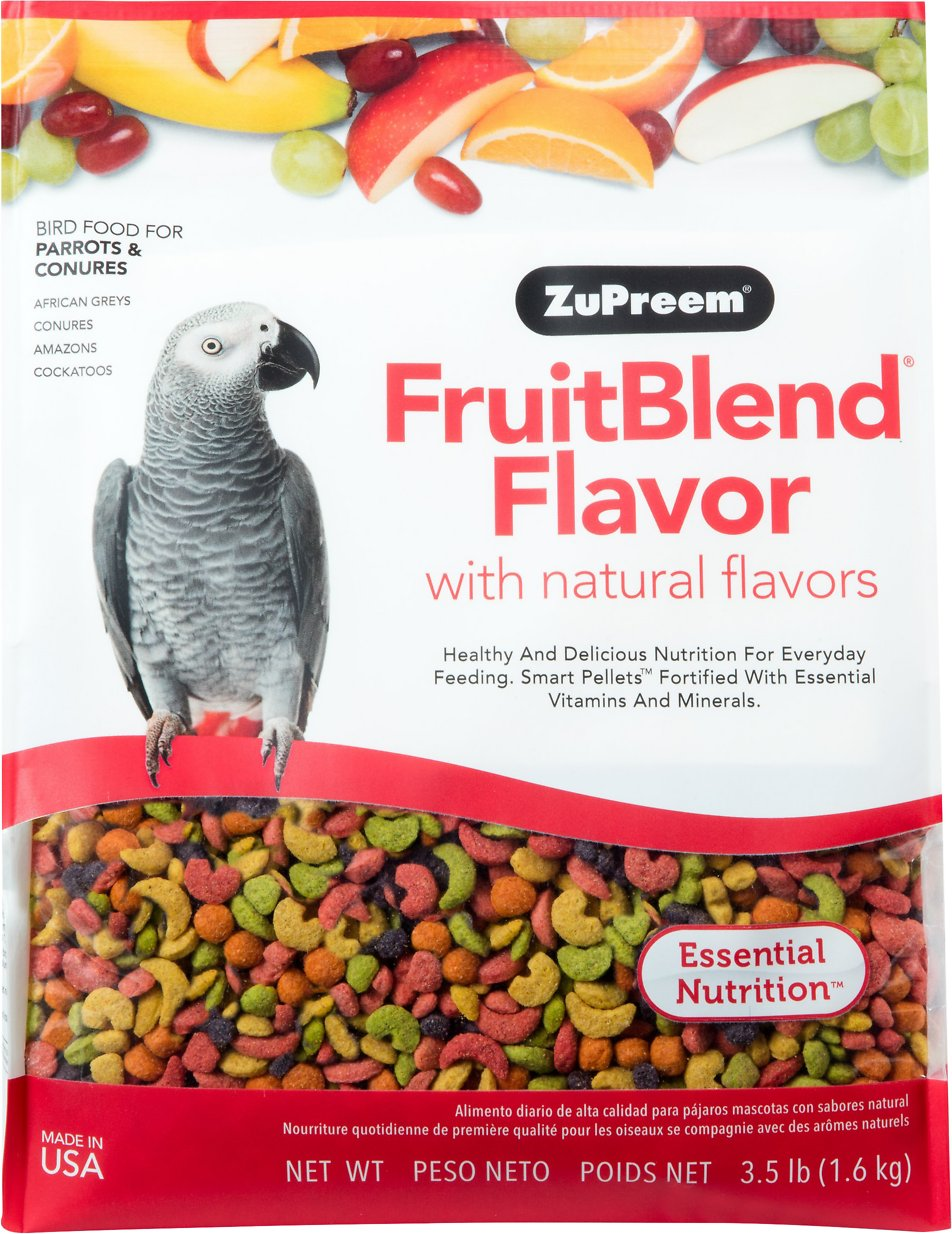 ZuPreem FruitBlend with Natural Fruit Flavors Parrot & Conure Bird Food Image