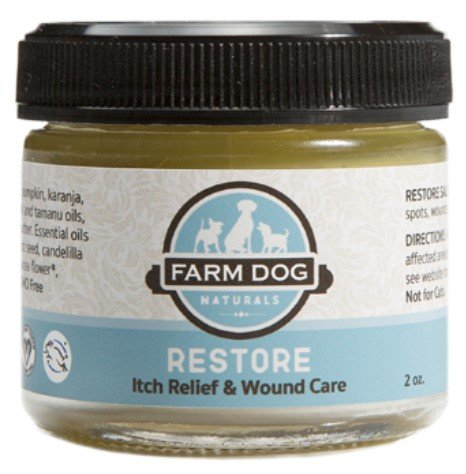Farm Dog Naturals Restore Wound Care and Itch Relief Salve Topical Remedy for Dogs, 2-oz bottle