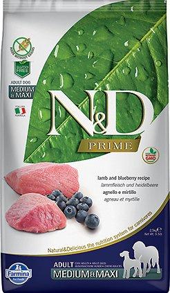 Farmina N&D Prime Lamb and Blueberry Medium/Maxi Dry Dog Food, 5.5-lb