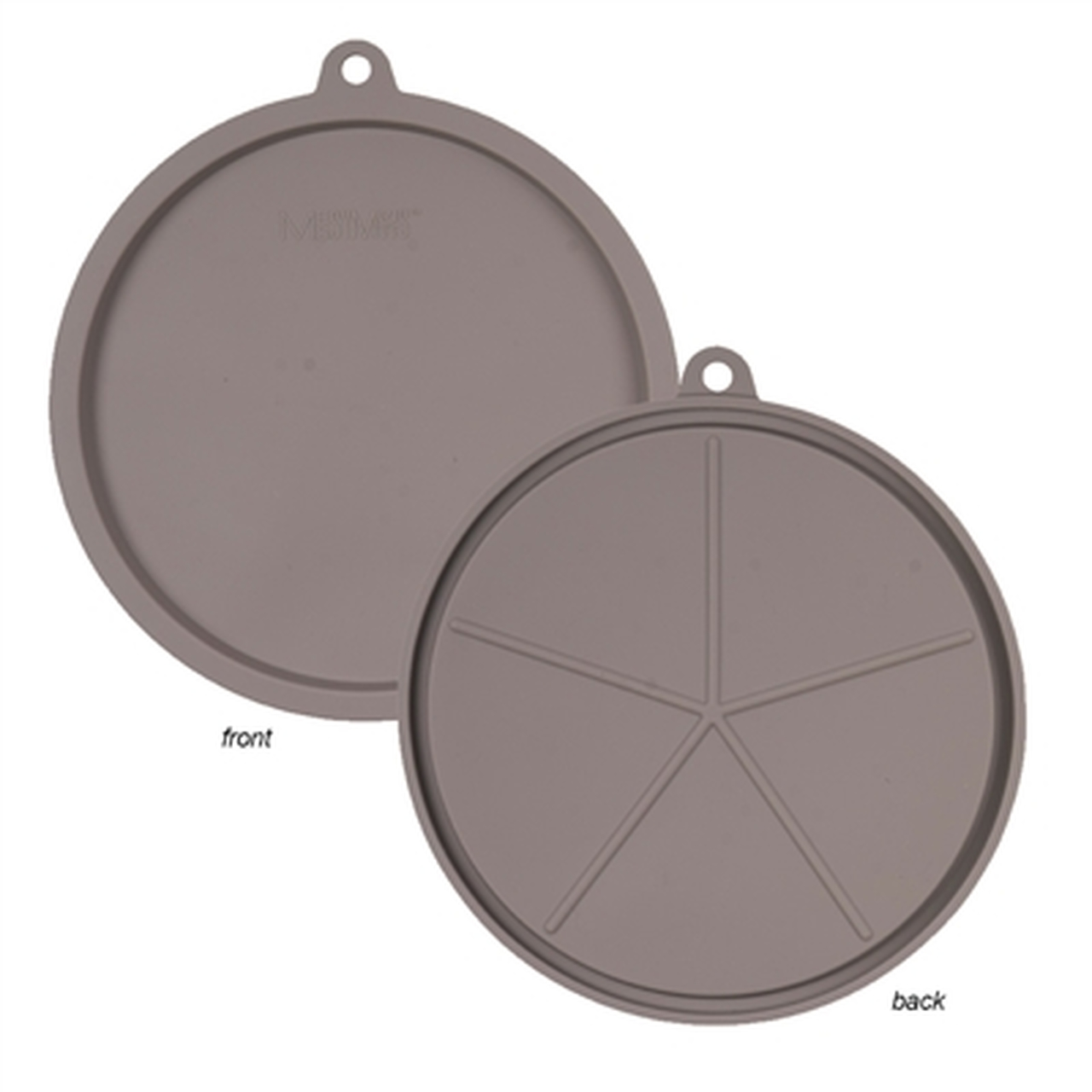 Messy Mutts Silicone Bowl Cover, Gray, Medium