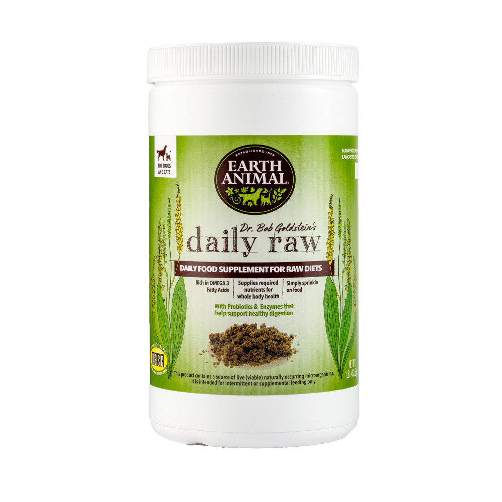 Earth Animal Daily Raw Food Nutritional Supplement for Dogs, 1-lb