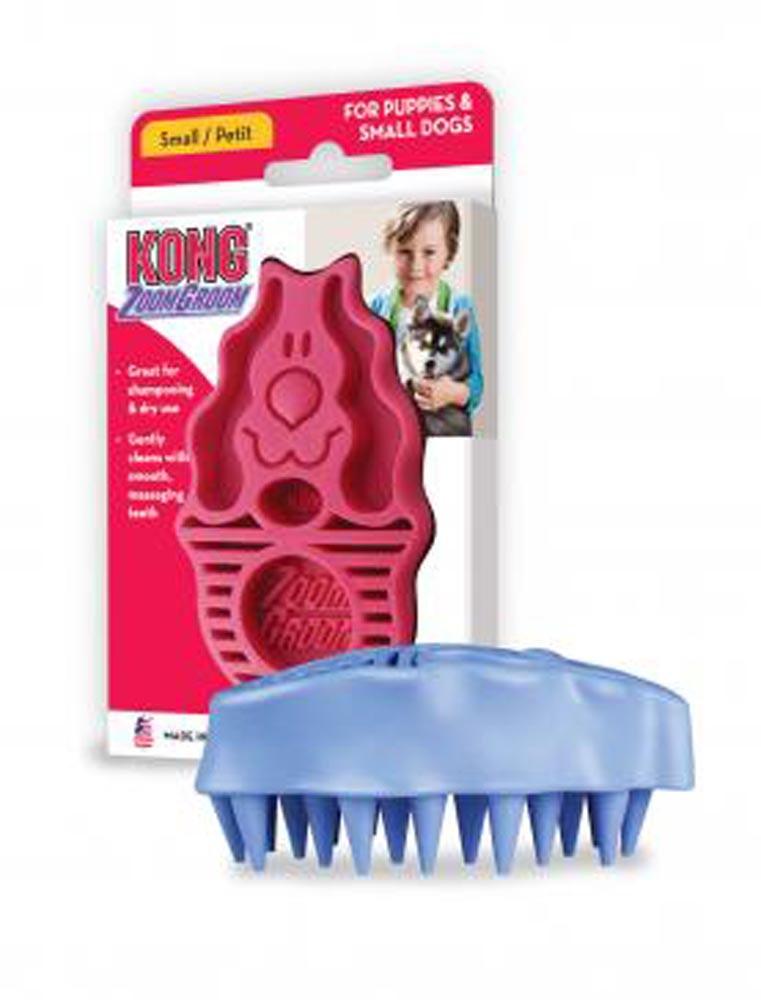 Kong ZoomGroom Dog Brush, Raspberry Image