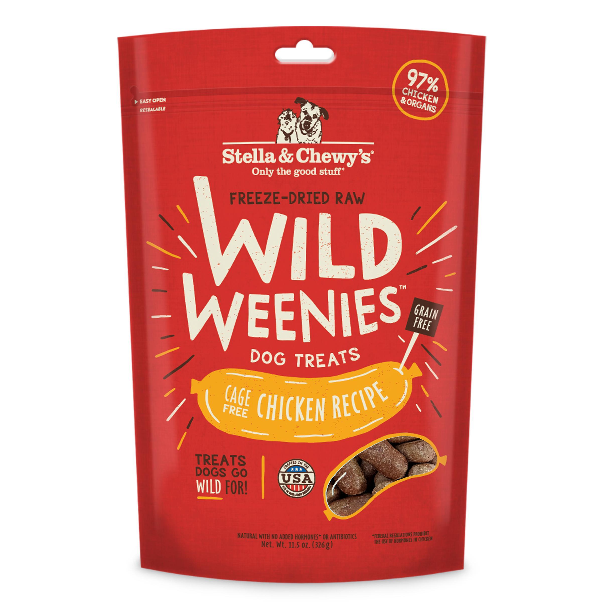 Stella & Chewy's Wild Weenies Cage-Free Chicken Recipe Freeze-Dried Dog Treats, 11.5-oz