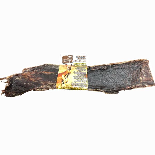 Open Range Kangaroo Steak Strip Dog Treats, 10-12-in