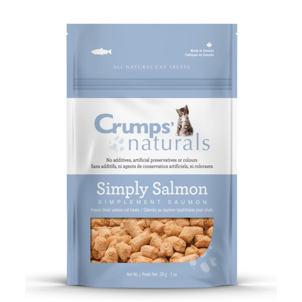 Crumps' Naturals Simply Salmon Freeze-Dried Cat Treats, 1-oz