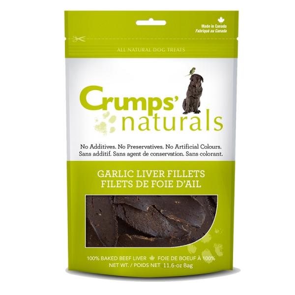 Crumps' Naturals Garlic Liver Fillets Freeze-Dried Dog Treats Image