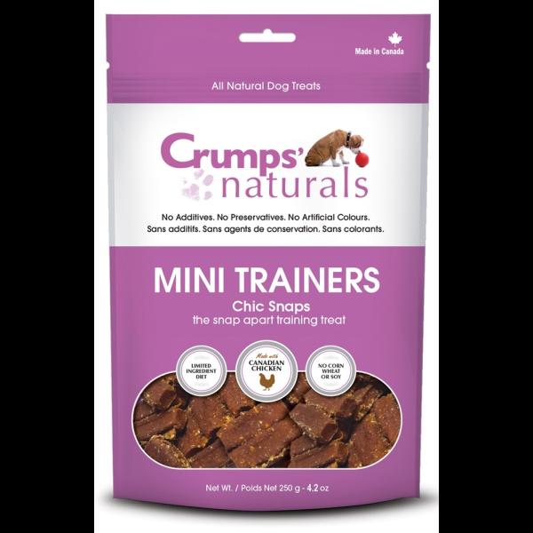 Crumps' Naturals Mini Trainers Chic Snaps Freeze-Dried Dog Treats, 4.2-oz
