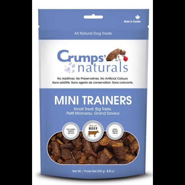 Crumps' Naturals Mini Trainers Semi-Moist Beef Freeze-Dried Dog Treats, 4.2-oz