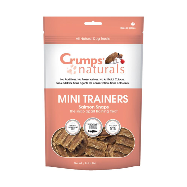 Crumps' Naturals Mini Trainers Salmon Snaps Freeze-Dried Dog Treats Image