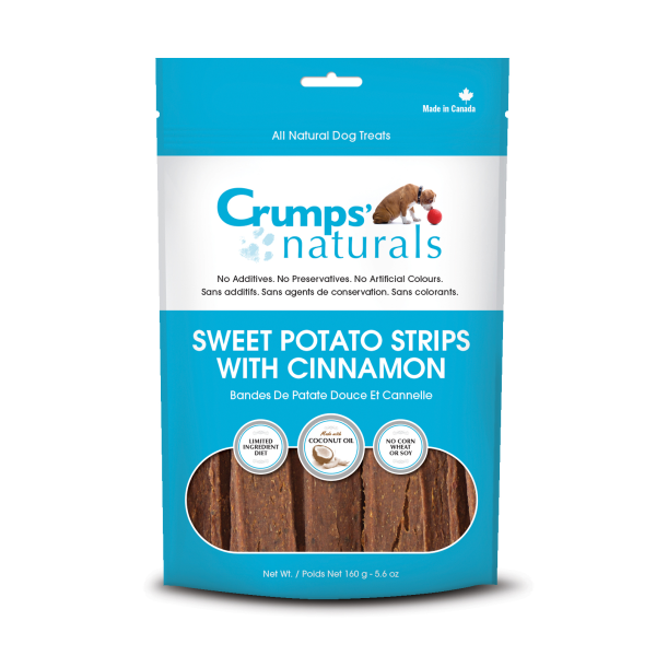 Crumps' Naturals Sweet Potato Fries with Cinnamon Freeze-Dried Dog Treats, 5.6-oz