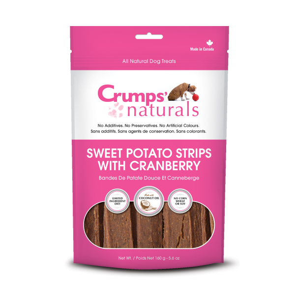 Crumps' Naturals Sweet Potato Fries with Cranberry Freeze-Dried Dog Treats, 5.6-oz
