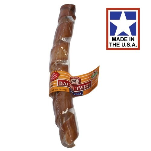 Smokehouse USA Bacon Skin Twist Dog Treats, Large Image
