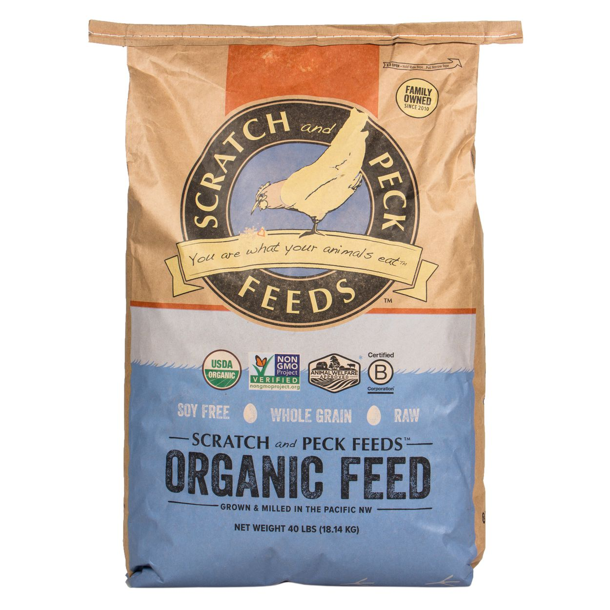 Scratch and Peck Feeds Naturally Free Organic Grower Chicken & Duck Feed Image