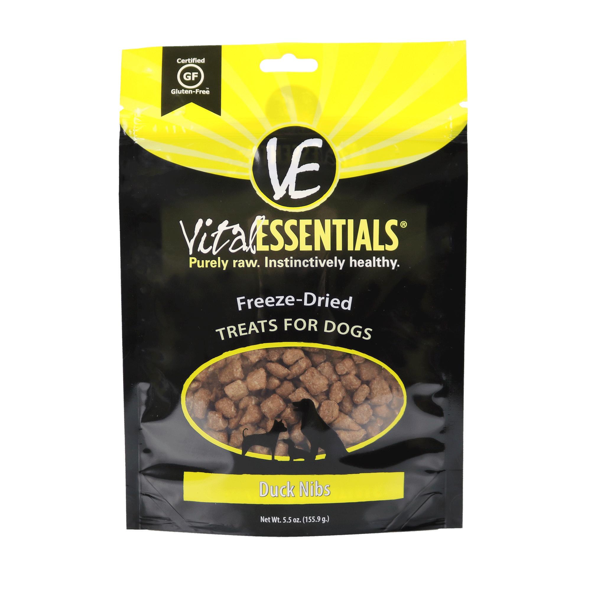 Vital Essentials Treats Duck Nibs Freeze-Dried Dog Treats, 5.5-oz