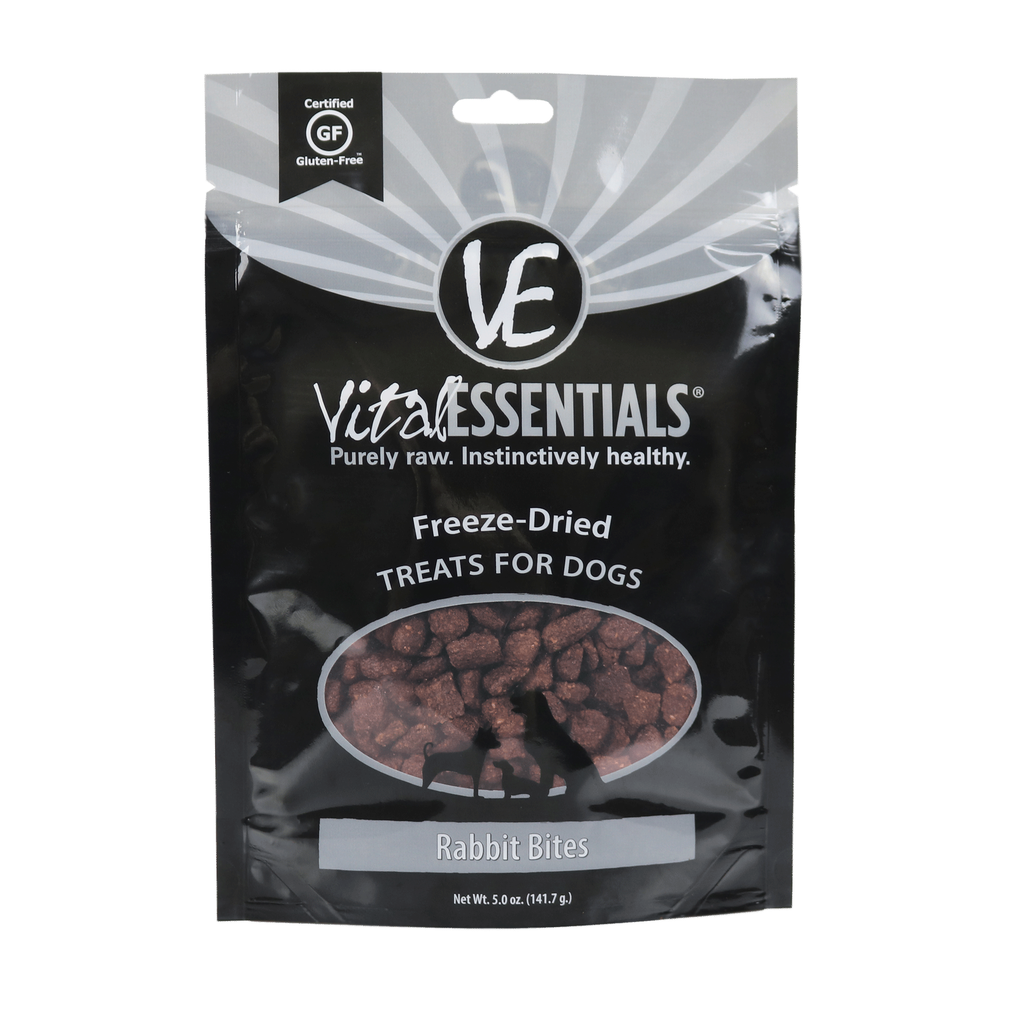 Vital Essentials Rabbit Bites Freeze-Dried Dog Treats, 5-oz