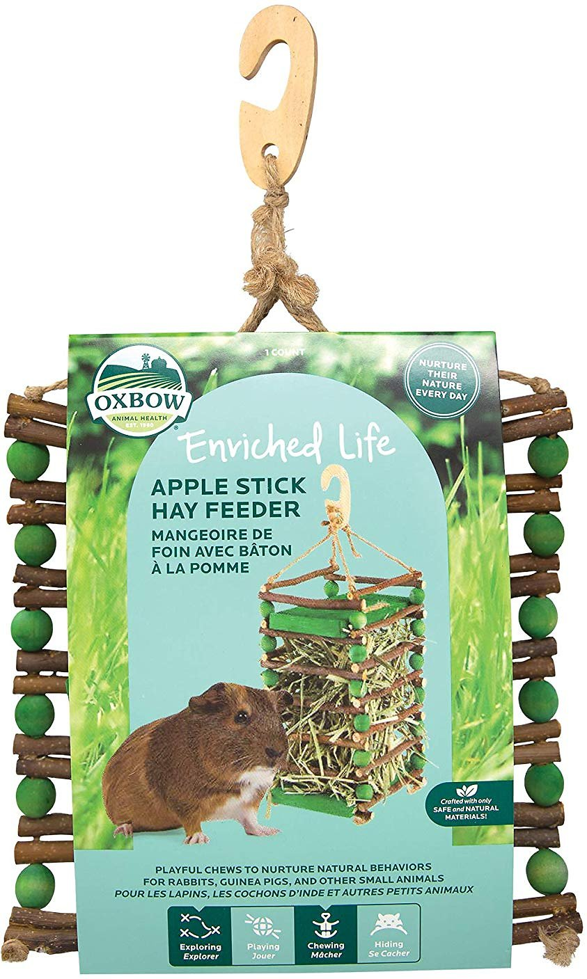 Oxbow Apple Stick Hay Small Animal Feeder Image