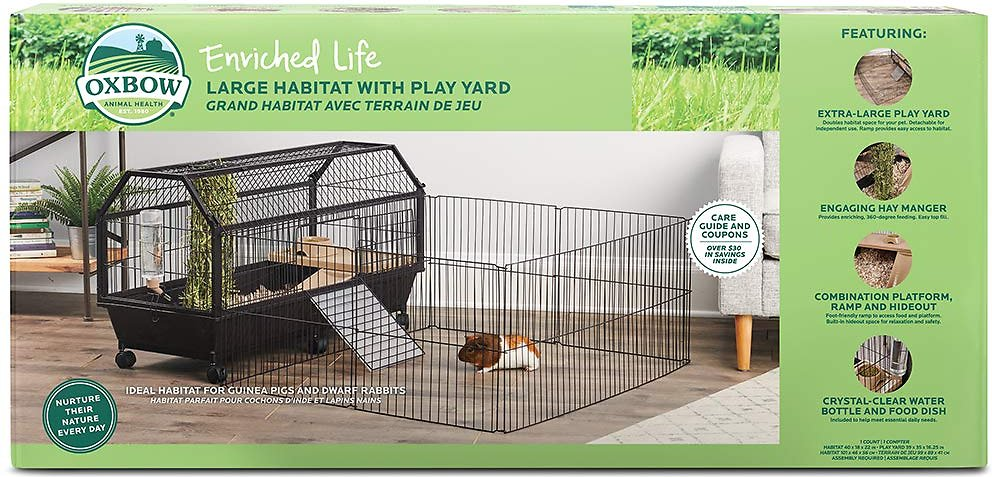 Oxbow Enriched Life Small Animal Cage with Play Yard Image