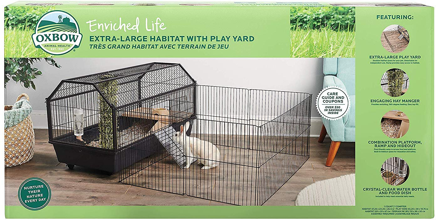 Oxbow Enriched Life Small Animal Cage with Play Yard, X-Large
